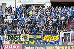 Fans des FC Saarbr&uuml;ckens beim Spiel in der Regionalliga Suedwest, 1. FC Saarbruecken - FK Pirmasens.<br /> <br /> Foto &copy; PIX-Sportfotos *** Foto ist honorarpflichtig! *** Auf Anfrage in hoeherer Qualitaet/Aufloesung. Belegexemplar erbeten. Veroeffentlichung ausschliesslich fuer journalistisch-publizistische Zwecke. For editorial use only.