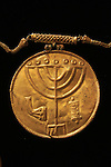 "Hebrew University of Jerusalem archaeologist Dr. Eilat Mazar announced the discovery of the ""Ophel Treasure"", thirty six gold coins, gold and silver jewelry, and a 10cm gold medallion with the Jewish symbols of a Menorah, a Shofar and a Torah Scroll etched into it. The treasure from the 7th century, Byzantine period was found at the foot of Temple Mount"