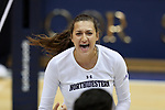 DURHAM, NC - SEPTEMBER 01: Northwestern's Gabrielle Hazen. The Northwestern University Wildcats played the University of South Carolina Gamecocks on September 1, 2017 at Cameron Indoor Stadium in Durham, NC in a Division I women's college volleyball match. Northwestern won 3-1 (13-25, 25-18, 25-18, 25-19).