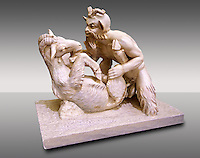 """Pan & Goat"" Roman Mythical erotic sculpture from Pompeii. Naples Archaeological inv no: 27709"