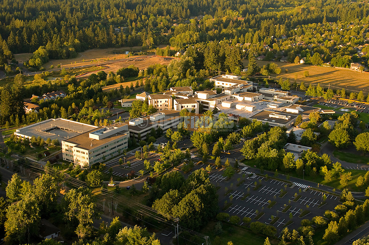Aerial View of Legacy Meridian Park Medical Center, Tualitan, Oregon