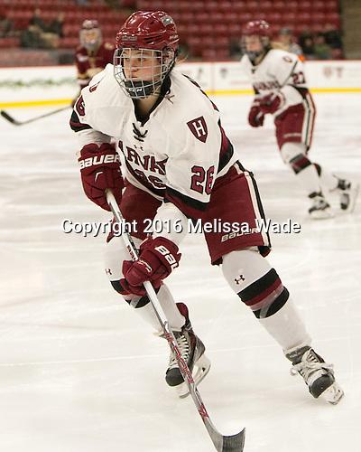 Haley Mullins (Harvard - 26) - The visiting Boston College Eagles defeated the Harvard University Crimson 2-0 on Tuesday, January 19, 2016, at Bright-Landry Hockey Center in Boston, Massachusetts.