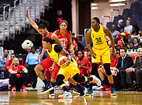 Washington, DC - June 15, 2018: Los Angeles Sparks guard Odyssey Sims (1) drives to the basket guarded by Washington Mystics guard Ariel Atkins (7) during game between the Washington Mystics and Los Angeles Sparks at the Capital One Arena in Washington, DC. (Photo by Phil Peters/Media Images International)