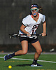 Courtney Kennedy #11 of Cold Spring Harbor reacts to a loose ball during a non-league varsity girls lacrosse game against Sacred Heart at Cold Spring Harbor High School on Friday, Apr. 1, 2016. Cold Spring Harbor won by a score of 11-9.