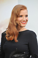 Jessica Chastain at the Los Angeles premiere of her movie Interstellar at the TCL Chinese Theatre, Hollywood.<br /> October 26, 2014  Los Angeles, CA<br /> Picture: Paul Smith / Featureflash