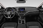 Stock photo of straight dashboard view of 2019 Nissan Altima SV 4 Door Sedan Dashboard