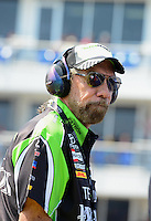 Sept. 22, 2012; Ennis, TX, USA: NHRA John Paul DeJoria, father of funny car driver Alexis DeJoria during qualifying for the Fall Nationals at the Texas Motorplex. Mandatory Credit: Mark J. Rebilas-