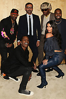 "NEW YORK, NY - NOVEMBER 6, 2019 DJ Clue, A$AP Rocky, Riccardo Tisci, Tyler The Creator, Kim Kardashian West & Kanye West attend the Kanye West ""Follow God"" music video presentation at the Burberry Store, November 6, 2019 in New York City. <br /> CAP/MPIWG<br /> ©WG/MPI/Capital Pictures"