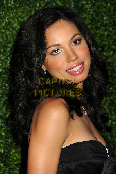 JURNEE SMOLLETT.CBS Summer Press Tour Party 2010 held at The Tent, Beverly Hills, California, USA..July 28th, 2010.headshot portrait black strapless blusher  mascara blusher make-up beauty side.CAP/ADM/BP.©Byron Purvis/AdMedia/Capital Pictures.