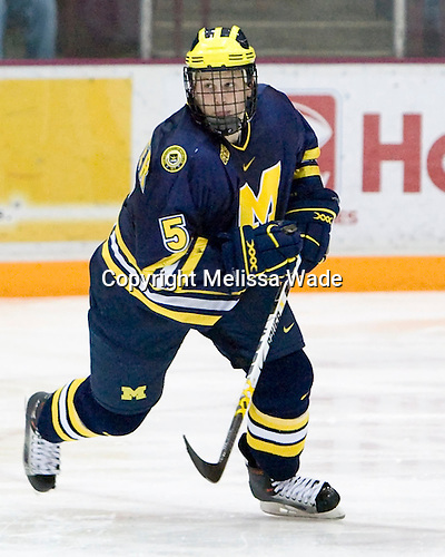 Steven Kampfer's Michigan Wolverines were defeated 8-2 by the Minnesota Golden Gophers in the College Hockey Showcase on November 25, 2006 at Mariucci Arena in Minneapolis, Minnesota.
