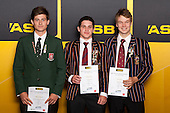 Cricket Boys finalists Robert O'Donnell, Simon Hickey and Ben Horne. ASB College Sport Young Sportsperson of the Year Awards held at Eden Park, Auckland, on November 24th 2011.