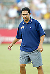 19 July 2003: Spirit head coach Omid Namazi. The Carolina Courage defeated the San Diego Spirit 1-0 at SAS Stadium in Cary, NC in a regular season WUSA game.