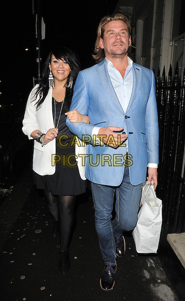 Martine McCutcheon &amp; Phil Turner attend the Gary Cockerill's &quot;Simply Glamorous&quot; book launch party, Alon Zakaim, Dover Street, London, England, UK, on Wednesday 16 September 2015. <br /> CAP/CAN<br /> &copy;Can Nguyen/Capital Pictures