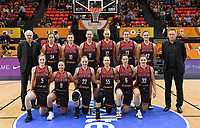 20200206 – OOSTENDE ,  BELGIUM : Belgian assistant coach Pierre Cornia , Belgian Billie Massey (34), Belgian Laure Resimont (10) , Belgian Emma Meesseman (11), Belgian Ann Wauters (12), Belgian Kyara Linskens (13) , Belgian Jana Raman (42), Belgian head coach Philip Mestdagh , Belgian Kim Mestdagh (5), Belgian Marjorie Carpreaux (9), Belgian Hanne Mestdagh (22), Belgian Julie Allemand (55), Belgian Antonia Delaere (6) and Belgian Heleen Nauwelaers (32)  pictured posing for the teampicture prior to a basketball game between the national teams of Canada and the National team of Belgium named the Belgian Cats on the first matchday of the FIBA Women's Qualifying Tournament 2020 , on Thursday 6  th February 2020 at the Versluys Dome in Oostende  , Belgium  .  PHOTO SPORTPIX.BE   DAVID CATRY