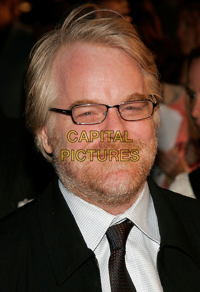 "PHILIP SEYMOUR HOFFMAN.New York Premiere of  ""Mission: Impossible III"" at Ziegfeld Theatre, New York, NY, USA..May 3rd, 2006.Photo: Jackson Lee/Admedia/Capital Pictures.Ref: JL/ADM.3 headshot portrait beard glasses Phillip facial hair.www.capitalpictures.com.sales@capitalpictures.com.© Capital Pictures."