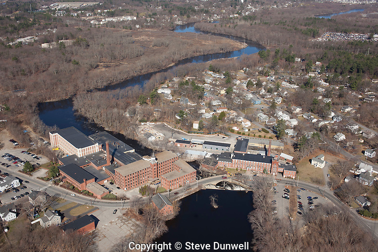 Mill and waterfall, Concord River, North Billerica, MA