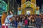 Manifestaçao de mulheres contra estupro, Marcha das Vadias. Florianopolis. Santa Catarina. 2016. Foto de Andre Arcenio.