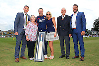 Graham Napier of Essex with family members ahead of Essex Eagles vs Glamorgan, NatWest T20 Blast Cricket at the Essex County Ground on 29th July 2016