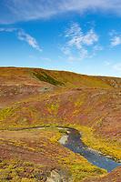 Stream along the Teller Highway on the Seward Peninsula, Alaska.