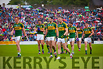 Johnny Buckley, Anthony Maher, David Moran, Bryan Sheehan, Brendan Kealy, Marc Ó Sé and Jonathan Lyne Kerry players before the Munster Final at Fitzgerald Stadium, Killarney on Saturday evening.