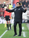 30.11.2019,  GER; 2. FBL, FC St. Pauli vs Hannover 96 ,DFL REGULATIONS PROHIBIT ANY USE OF PHOTOGRAPHS AS IMAGE SEQUENCES AND/OR QUASI-VIDEO, im Bild Trainer Kenan Kocak (Hannover) Foto © nordphoto / Witke