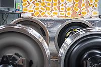 Das Werk der Schienenfahrzeugbau Wittenberge GmbH in Eberswalde.<br /> Im Bild: Radachsen fuer Gueterwagons.<br /> 27.5.2019, Eberswalde<br /> Copyright: Christian-Ditsch.de<br /> [Inhaltsveraendernde Manipulation des Fotos nur nach ausdruecklicher Genehmigung des Fotografen. Vereinbarungen ueber Abtretung von Persoenlichkeitsrechten/Model Release der abgebildeten Person/Personen liegen nicht vor. NO MODEL RELEASE! Nur fuer Redaktionelle Zwecke. Don't publish without copyright Christian-Ditsch.de, Veroeffentlichung nur mit Fotografennennung, sowie gegen Honorar, MwSt. und Beleg. Konto: I N G - D i B a, IBAN DE58500105175400192269, BIC INGDDEFFXXX, Kontakt: post@christian-ditsch.de<br /> Bei der Bearbeitung der Dateiinformationen darf die Urheberkennzeichnung in den EXIF- und  IPTC-Daten nicht entfernt werden, diese sind in digitalen Medien nach §95c UrhG rechtlich geschuetzt. Der Urhebervermerk wird gemaess §13 UrhG verlangt.]
