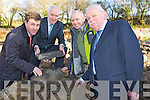 Minister Jimmy Deenihan pictured with Toddy Doyle, Muckross Farms Manager, Liam Sugrue and Michael Larkin, Chairman Muckross House Trustees pictured as he laid a stone at the launch of the Schoolhouse and Staff facilities Project in Muckross on Monday.