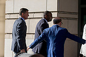 """Former Trump National Security Advisor Michael Flynn arrives at US District Court in Washington, DC where he is expected to enter a guilty plea for """"willfully and knowingly"""" making """"false, fictitious and fraudulent statements"""" to the FBI regarding conversations he had during his time at the White House with Russia's ambassador on Friday, December 1, 2017.<br /> Credit: Alex Edelman / CNP"""