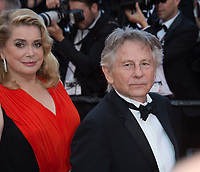 Catherine Deneuve &amp; Roman Polanski at the 70th Anniversary Gala for the Festival de Cannes, Cannes, France. 23 May 2017<br /> Picture: Paul Smith/Featureflash/SilverHub 0208 004 5359 sales@silverhubmedia.com