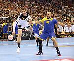 12.01.2019, Mercedes Benz Arena, Berlin, GER, Germany vs. Brazil, im Bild <br /> Hendrik Pekeler (GER #13), Gustavo Rodrigues (BRA #95)<br />      <br /> Foto &copy; nordphoto / Engler