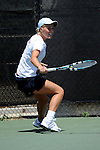 SAN DIEGO, CA - APRIL 24: Alexandra Poorta of the Saint Marys Gaels during the WCC Tennis Championships at the Barnes Tennis Center on April 24, 2010 in San Diego, California.