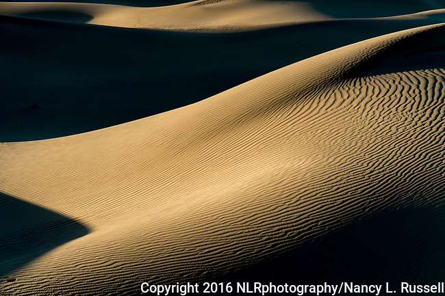 Textured Sands at Mesquite Flats in Death Valley