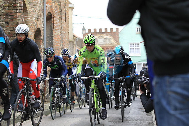 Riders including Peter Sagan (SVK) Cannondale Pro Cycling climb Casselberg for the 2nd time and pass through the old town of Cassel during the 75th edition of Gent-Wevelgem, France, 24th  March 2013 (Photo by Eoin Clarke 2013)
