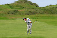 Stuart Bleakley (Shandon Park) on the 12th during Round 3 of The South of Ireland in Lahinch Golf Club on Monday 28th July 2014.<br /> Picture:  Thos Caffrey / www.golffile.ie