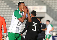 Adam Idah of Republic of Ireland and Norwich City shows his frustration after seeing his shot just miss the Mexico goal during Republic Of Ireland Under-21 vs Mexico Under-21, Tournoi Maurice Revello Football at Stade Parsemain on 6th June 2019