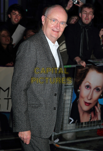 Jim Broadbent.''The Iron Lady' European Premiere' European Film Premiere at BFI cinema, Southbank, London, England..4th January 2012.half length suit side white grey gray glasses .CAP/ROS.©Steve Ross/Capital Pictures.