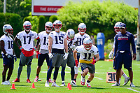 June 13, 2017: New England Patriots wide receiver Julian Edelman (11) runs a drill at the New England Patriots organized team activity held on the practice field at Gillette Stadium, in Foxborough, Massachusetts. Eric Canha/CSM