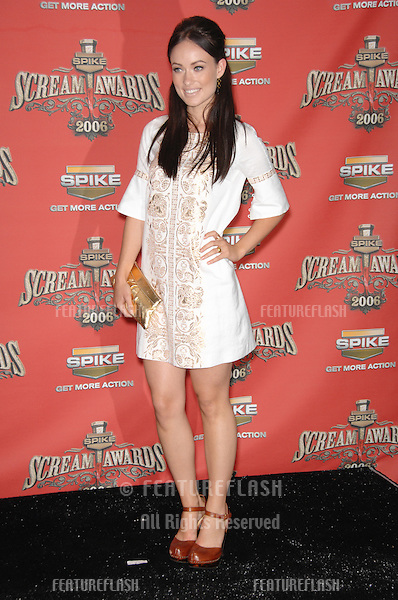 OLIVIA WILDE at the Spike TV Scream Awards 2006 at the Pantages Theatre, Hollywood..October 7, 2006  Los Angeles, CA.Picture: Paul Smith / Featureflash