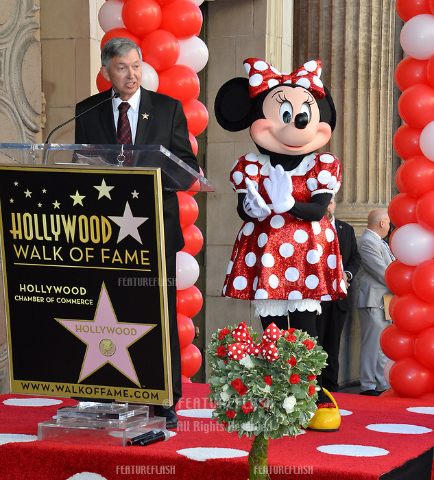 Minnie Mouse &amp; Leron Gubler at the Hollywood Walk of Fame Star Ceremony honoring Disney character Minnie Mouse, Los Angeles, USA 22 Jan. 2018<br /> Picture: Paul Smith/Featureflash/SilverHub 0208 004 5359 sales@silverhubmedia.com