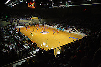 A general view of TSB Bank Arena during game two of the NBL Final basketball match between the Wellington Saints and Waikato Pistons at TSB Bank Arena, Wellington, New Zealand on Friday 20 June 2008. Photo: Dave Lintott / lintottphoto.co.nz