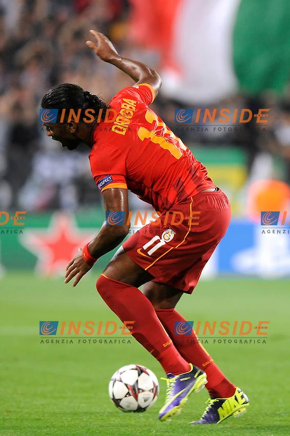 Didier Drogba Galatasaray <br /> Torino 02-10-2013 Juventus Stadium<br /> UEFA Champions League 2013/2014<br /> Football Calcio Juventus vs Galatasaray<br /> Foto Insidefoto Giorgio Perottino