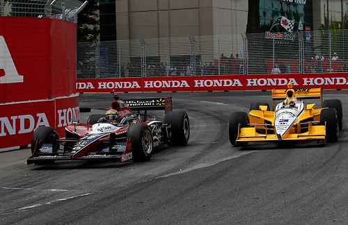 8-10 July, 2011, Toronto, Ontario, Canada<br /> Justin Wilson and Helio Castroneves<br /> (c)2011, Michael L. Levitt<br /> LAT Photo USA