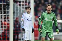 FUSSBALL   1. BUNDESLIGA  SAISON 2012/2013   21. Spieltag  FC Bayern Muenchen - FC Schalke 04                     09.02.2013 Tranquillo Barnetta (li) und Timo Hildebrand (re, beide FC Schalke 04) sind enttaeuscht