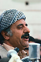 Iran 1979.Abdul Rahman Ghassemlou delivering a speech in Mahabad