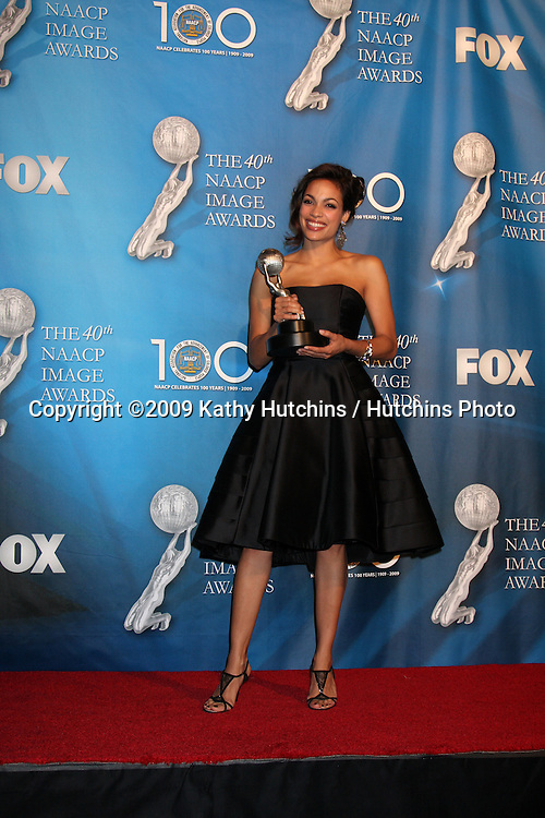Rosario Dawson  in the Press Room  at the 40th Annual NAACP Image Awards  at the Shrine Auditorium in Los Angeles, CA on .February 12, 2009.©2009 Kathy Hutchins / Hutchins Photo..                .