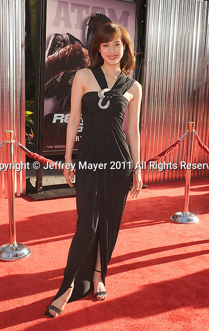 "UNIVERSAL CITY, CA - OCTOBER 02: Yuki Amami attends the ""Real Steel"" Los Angeles Premiere at Gibson Amphitheatre on October 2, 2011 in Universal City, California."
