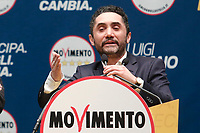 Nicola Acunzo<br /> Roma 29/01/2018. Presentazione dei candidati nelle liste uninominali del Movimento 5 Stelle.<br /> Rome January 29th 2018. Presentation of the candidates for Movement 5 Stars.<br /> Foto Samantha Zucchi Insidefoto