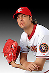 25 February 2007: Washington Nationals pitcher John Patterson poses for his Photo Day portrait at Space Coast Stadium in Viera, Florida.<br /> <br /> Mandatory Photo Credit: Ed Wolfstein Photo<br /> <br /> Note: This image is available in a RAW (NEF) File Format - contact Photographer.