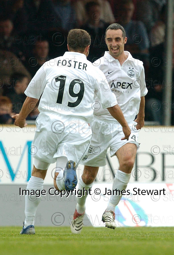 16/09/2006        Copyright Pic: James Stewart.File Name : sct_jspa14_falkirk_v_aberdeen.GARY DEMPSEY CELEBRATES AFTER HE SCORES ABERDEEN'S FIRST .....Payments to :.James Stewart Photo Agency 19 Carronlea Drive, Falkirk. FK2 8DN      Vat Reg No. 607 6932 25.Office     : +44 (0)1324 570906     .Mobile   : +44 (0)7721 416997.Fax         : +44 (0)1324 570906.E-mail  :  jim@jspa.co.uk.If you require further information then contact Jim Stewart on any of the numbers above.........