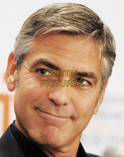 "GEORGE CLOONEY.Attending ""The Men Who Stare At Goats""  Press Conference held at the Sutton Place Hotel during the 35th Annual Toronto International Film Festival, Toronto, Ontario, Canada,.11th September 2009..portrait headshot black .CAP/ADM/BPC.©Brent Perniac/Admedia/Capital Pictures"